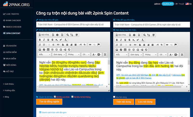 Keep formatting of the post after mixing (eg H1, H2, Css tags ...) - 2pink Spin Content